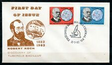 Philippines, 1982, Scott # 1614 & 1615, First Day Cover, Robert Koch