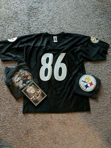 Lot Of Pittsburgh Steelers Men's Large Jersey Super Bowl Champion DVD And Shirts