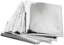 10 Pk + 1 Emergency Solar Blanket Survival Safety Insulating Mylar Thermal Heat