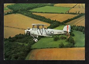 C1980s View of a C1928 Hawker Tomtit Bi-plane Trainer aircraft