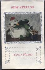 Sew Special Sewing Pattern Lot of 3: Goose Planter~Goose Girl Broom Cover~Wreath