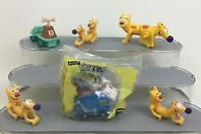 Cat Dog Nickelodeon Toy Wind Up Pull Back Lot 6pc Burger King Catdog Vintage 90s