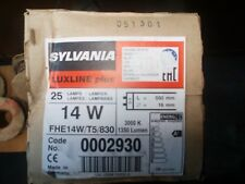 SYLVAINIA LUXLINE PLUS 14W TUBE LIGHT BULBS X25