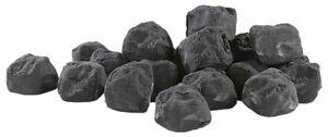 Pierres décoratives noires pour cheminée au bioéthanol - Noir - Carlo Milano