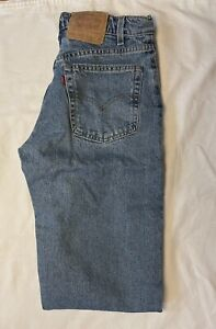 Vintage 90s Levis 555 Relaxed Fit Straight Leg Blue Jeans Mens Sz 32x32 USA Made