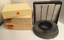 3 Vintage Kodak Transvue 140 Slide Carousel Projector Tray Original with Box (c)