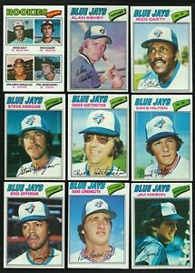 "1977 TOPPS TORONTO BLUE JAYS DOUG AULT ROOKIE + 9 LOT ""THE ORIGINAL BLUE JAYS"""