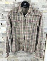 Fat Face Ladies Size 14 Checked Shirt Long Sleeve 100% Cotton