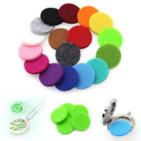 10Pcs Charm Diffuser Aromatherapy Refill Scent Soft Cotton Pads Necklace Pendant