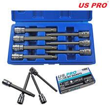 US Pro by Bergen Tools 7pc 3/8'' DR 110mm(L) Spline Bit Socket Set - Long Bits