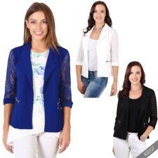 Abrigos y chaquetas de mujer Blazer color principal azul de poliéster