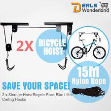 2 X Storage Hoist Surfboard Kayak Bicycle Hanging Rack Bike Lift Ceiling Hooks