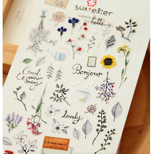 Secret Garden PVC Stickers Flower Vintage style Scrapbook diary Cardmaking DIY