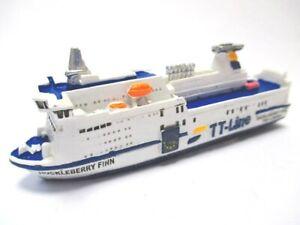 Ship Ferry Huckleberry Finn Trelleborg Tt Line 4 11/16in Poly Model New