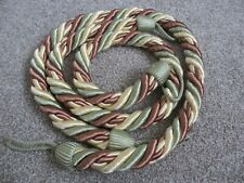 PAIR Curtain Holdbacks Thick twisted Rope cord Tie Backs 1pair NEW Pack 2