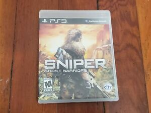 Play Station 3 Sniper Ghost Warrior Video Game Case Disc Manual PS3 Pre-Owned