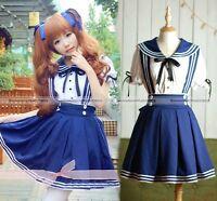 Japanese School uniforms Sailor cosplay costume Fancy Dress Halloween Dress