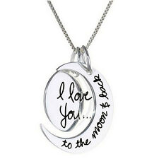 Charm Necklace I Love You To The Moon And Back Pendants Necklace Jewelry New SP