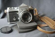 NIKON F Apollo PRISM finder 35MM CHROME + Nippon Kogaku 50mm f2 Lens