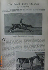 Bruce Lowe Theories Racehorse Breeding Thoroughbred Rare Antique Article 1907