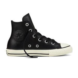 "CONVERSE Scarpe RAGAZZO Shoes BAMBINO ""All Star Hi"" NEW Sneakers NUOVE Pelle BkE"