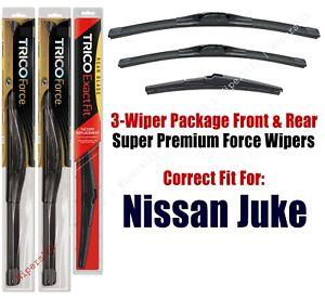 Wiper Blades Trico 3-Pack Front/Rear fits 2011+ Nissan Juke - 25220/140/12j