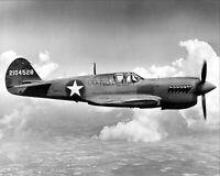 CURTISS P-40 WARHAWK FIGHTER GROUND ATTACK AIRCRAFT IN FLIGHT 8X10 PHOTO (MW443)