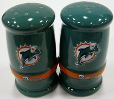 Miami Dolphins NFL Football Ceramic Salt & Pepper Shakers