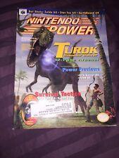 Vintage Nintendo Power Magazine Vol 94 Turok Dinosaur Mario Kart Cards Poster!