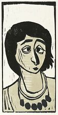 OTTO PANKOK - Zigeunerin Hoto - Farbholzschnitt 1947/1990