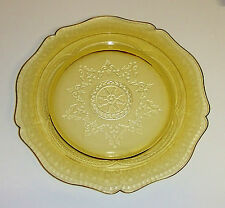 1200~Vintage Federal Glass Amber Patrician Depression Glass Dinner Plate 11""