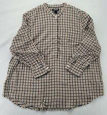 Lands' End Women's Long Sleeve Flannel Shirt Size 2X 20W-22W