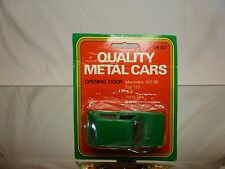 QUALITY METAL CARS AM63 VW VOLKSWAGEN - GREEN L8.5cm RARE - GOOD IN CARD-BLISTER