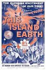 Esta isla Tierra Cartel 02 A3 Caja Lona Impresión