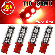 4x Pure Red T10 5050 13-SMD LED 3rd Brake Side Marker Light W5W 2825 168 194