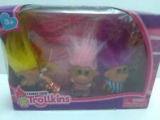 Fairly Odd Trollkins Troll Dolls 3 Figure Set  In Box