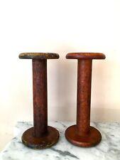 Roberts & Hirst,LTD~ Antique Vintage Industrial Wooden Textile Spools~Halifax