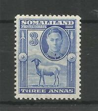 SOMALILAND PRO 1942 G6TH 3a BRIGHT BLUE SG,108 M/MINT LOT 6298A