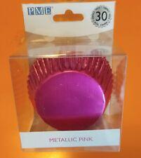 Pirottini per Muffin o Cupcake - Rosa Fucsia Foil Metallizzato Cartine Carta F.