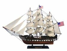 """USS Constitution 24"""" Wooden Model Tall Ship - Wooden Boat - Old Ironsides"""