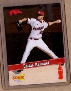 2009 Arkansas Razorbacks college baseball card Dallas Keuchel Houston Astros LHP