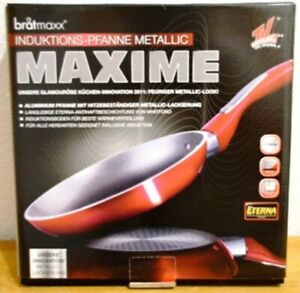 Bratmaxx Induktions-Pfanne Maxime Metallic-Rot  28 cm !!