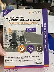 iSimple ISBT43 Blustream Bluetooth FM Modulator Black - Free Shipping E6