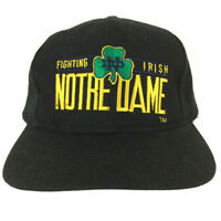Vtg Notre Dame Fighting Irish Cap Spell Out Logo Snap Back Baseball Youngan Hat