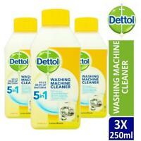 3 x Dettol Washing Machine Cleaner, 250ml (Lemon Breeze)
