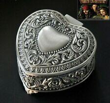 TIN ALLOY HEART MUSIC BOX :  PIRATE OF CARIBBEAN DAVY JONES