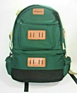 Vintage Canon Camera Professional Backpack 1 - Canvas Travel Backpack Green