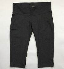 PrAna Yoga Cropped Pants XL Charcoal Heather Olympia Knicker Rock Climbing New