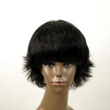 perruque afro femme 100% cheveux naturel courte noir ref SHARONA 04/1b