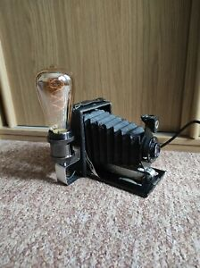 Camera Lamp Industrial Retro Vintage Upcycled Cameo Folding Large FormatFilm LED